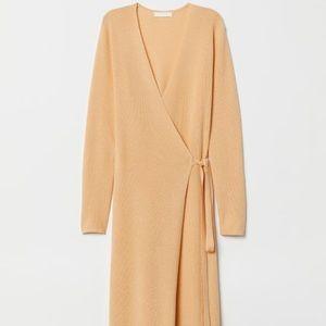H&M Wrap Knit Sweater Dress